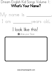 Free Mp3 Whats Your Name Song Download For Childrens English Class